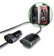 LDNIO 4 porty USB do zapaľovača nabíjačka 1m kábel