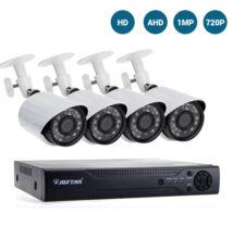 HD AHD 1MP kamerový systém s 4-kanálovým nahrávaním