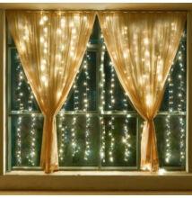 LED Záves 2x1,5m teplý biely