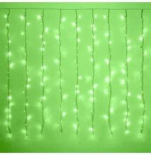 LED Záves 2x1,5m zelený