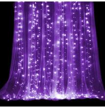 LED Záves 3x3m fialový