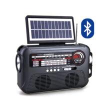 Bluetooth prenosný multimedia prehrávač so solárnou lampou MP3 USB FM rádió TF MK-192