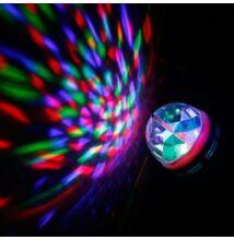 Rotačná LED disco RGB guľa E27