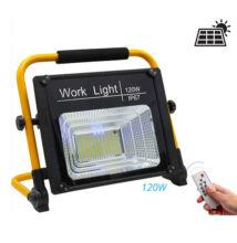 Solárna LED pracovná lampa nabíjacia 50W 80W 120W IP67 W745A
