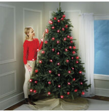 Revolučný svetelný systém/reťaz na vianočný stromček 16 farieb