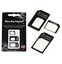 Adapter Nano micro na SIM kartu - 3 v 1 + kľúč