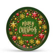 Vianočná tácka kov 31cm 55932I
