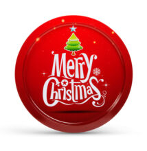 Vianočná tácka kov 31cm 55932J