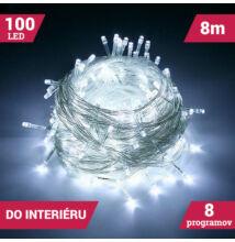 LED svetelné reťaze 100LED studené biele