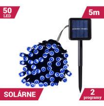 50LED solárne reťaze zelený kábel 5M MODRÝ