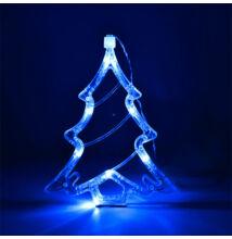 LED dekorácia do okna stromček 20cm modrá