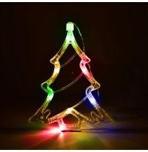 LED dekorácia do okna stromček 20cm viacfarebná