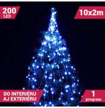 Zväzok LED svietiacich reťazcov micro 10 vetiev 200LED modrý