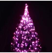 Zväzok LED svietiacich reťazcov micro 10 vetiev 200LED ružový