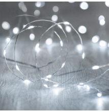 10M LED dekoračný svetelný drôt vodeodolný STUDENÁ BIELA farba