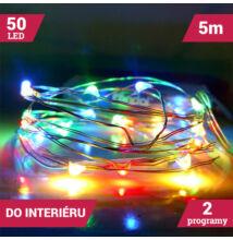 LED dekoračný svetelný drôt 5m 50LED VIACFAREBNÝ