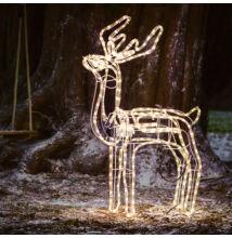 LED pohyblivá vianočná dekorácia SOB 120cm teplá biela