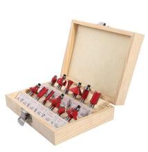 12 kusová sada hláv do frézy 8mm v drevenej krabičke