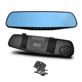 Kamera zabudovaná do spätného zrkadla na nahrávanie udalostí z cestnej premávky s cúvacou kamerou