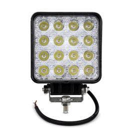 Prídavné LED svetlo na pracovné stroje offroad autá 48W IP67 12-36V hranaté