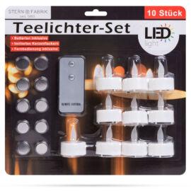 Sada LED čajových sviečok s diaľkovým ovládačaom biela 10 ks 55248