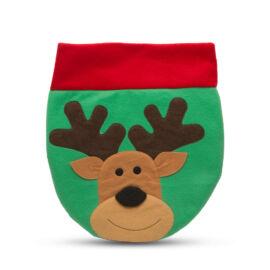 Vianočná dekorácia na WC sedadlo so sobom