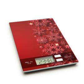 Kuchynská váha vianočná červená