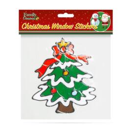 Vianočná dekorácia na okno vianočný strom 18 x 18 cm 58258E