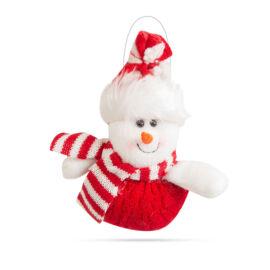 Vianočná dekoračná snehuliak 14 x 16 cm 58261A
