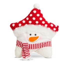 Vianočný 3D dekoratívny vankúš snehuliak 37 x 43 cm 58262B