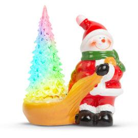 Vianočná RGB LED dekorácia snehuliak 13x7x15cm 58272