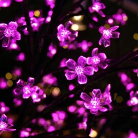 LED dekoračný strom 130 cm RUŽOVÝ