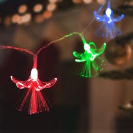 LED sveteľná reťaz kvety 20 LED farebná 2 x AA 2,85 metrov