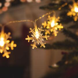 LED svetelná reťaz ľadové krištále 20 LED teplá biela 2 x AA 2,3 m
