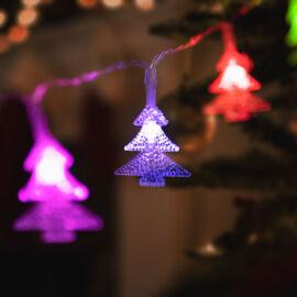 LED svetelná reťaz farebné stromy 20 LED 3 x AA 2,3 m