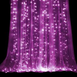 LED Záves 3x3m ružový