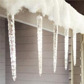 LED cencúle efekt topiaceho sa ľadu 30cm teplé biele extra realistické