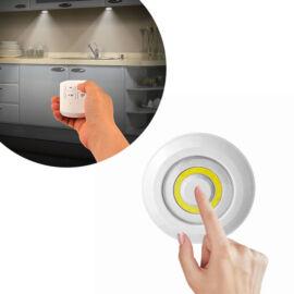 Sada 3 COB LED svetiel s diaľkovým ovládačom do interiéru kruh