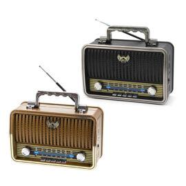 Kemai Prenosný multimédia prehrávač rádio MP3 USB TF FM AM SW RETRO MD-1909BT