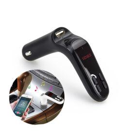 Car S7 Transmitter FM nabíjačka do auta s digitálnym displejom