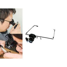 Lupové okuliare na opravu hodiniek  s LED osvetlením