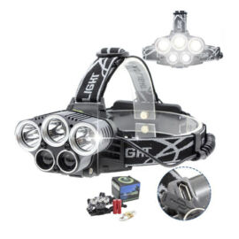 LED čelovka 5LED nabíjateľná