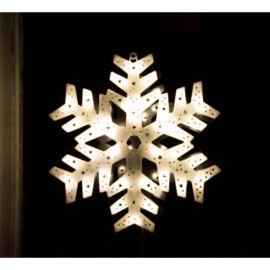 LED dekorácia do okna snehová vločka 40cm teplá biela