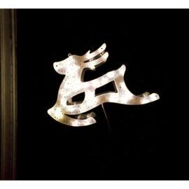 LED dekorácia do okna sob 40cm teplá biela