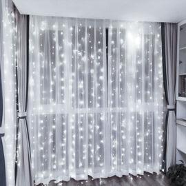 LED Záves 2x1,5m studený biely