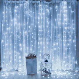 LED Záves 2x2m studený biely