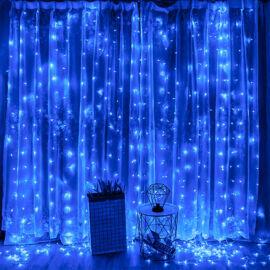 LED záves 2x2m modrý