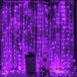 LED záves 2x2m fialový