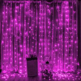 LED Záves 2x2m ružový