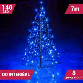 LED svetelné reťaze 140LED zelený kábel modrá farba